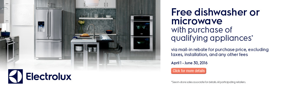 Electrolux Dream Kitchen Event- Save up to $1000