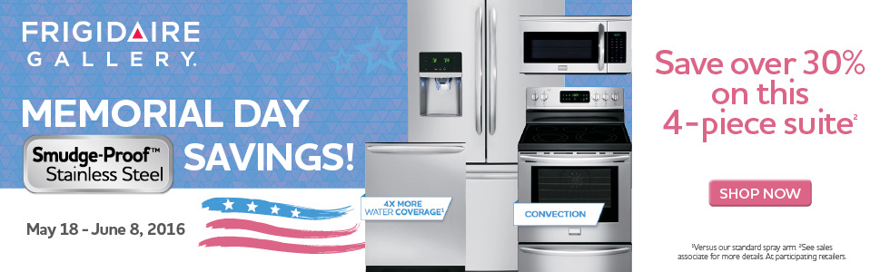 Frigidaire Gallery Memorial Day Savings- Save up to $250